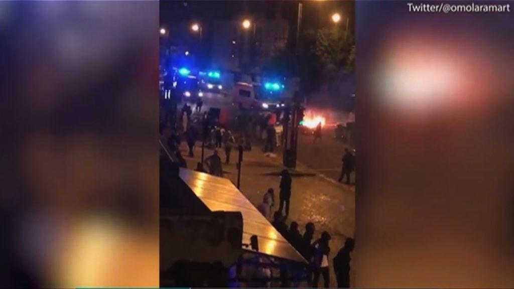 倫敦抗議黑人死亡事件演變騷亂