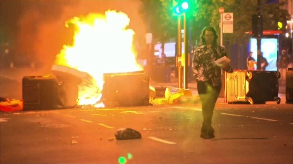 倫敦東部示威演變騷亂 警拘最少1人