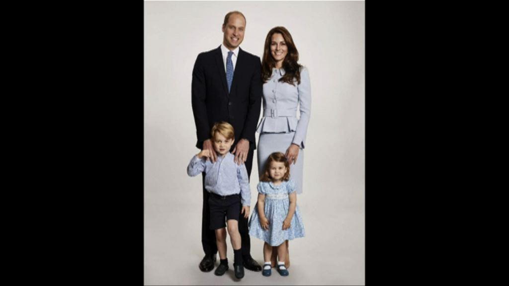 英王室公布威廉王子全家福照片