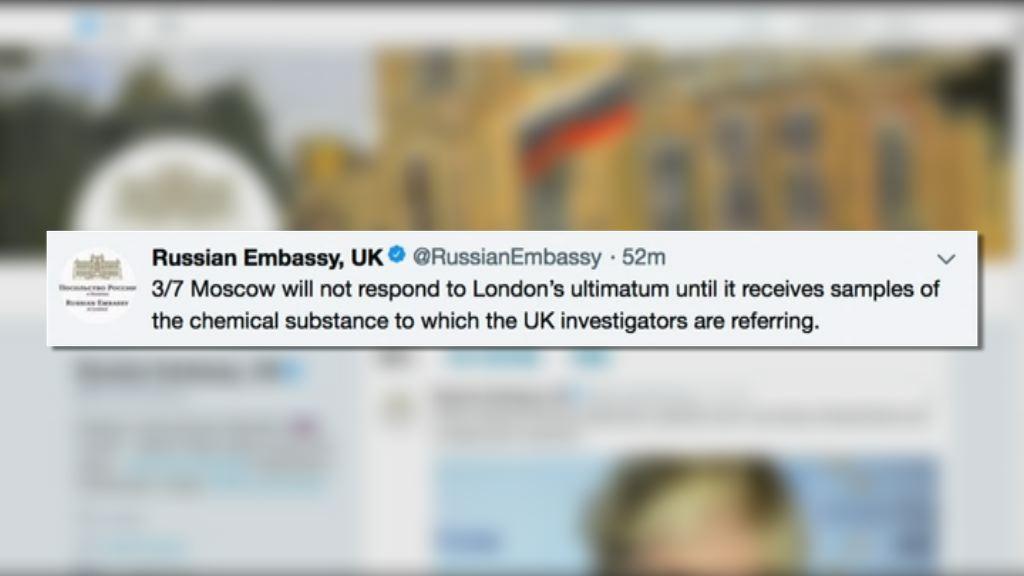 前特工中毒案 俄指若英國有報復措施不會坐視不理