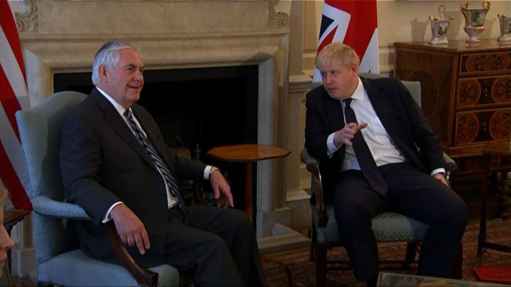 蒂勒森訪英討論美英關係及伊朗核協議