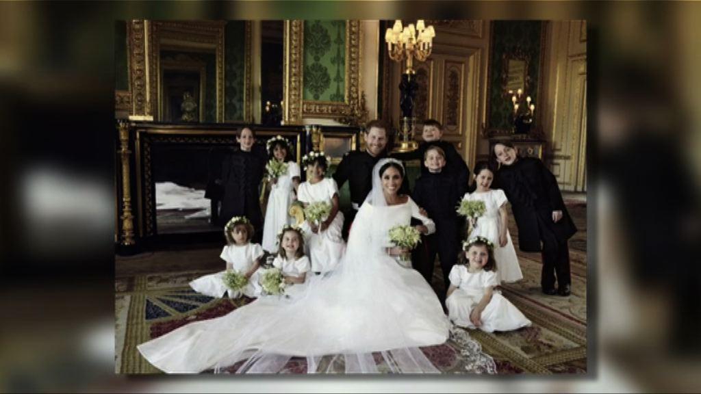 肯辛頓宮發布哈里與梅根婚照