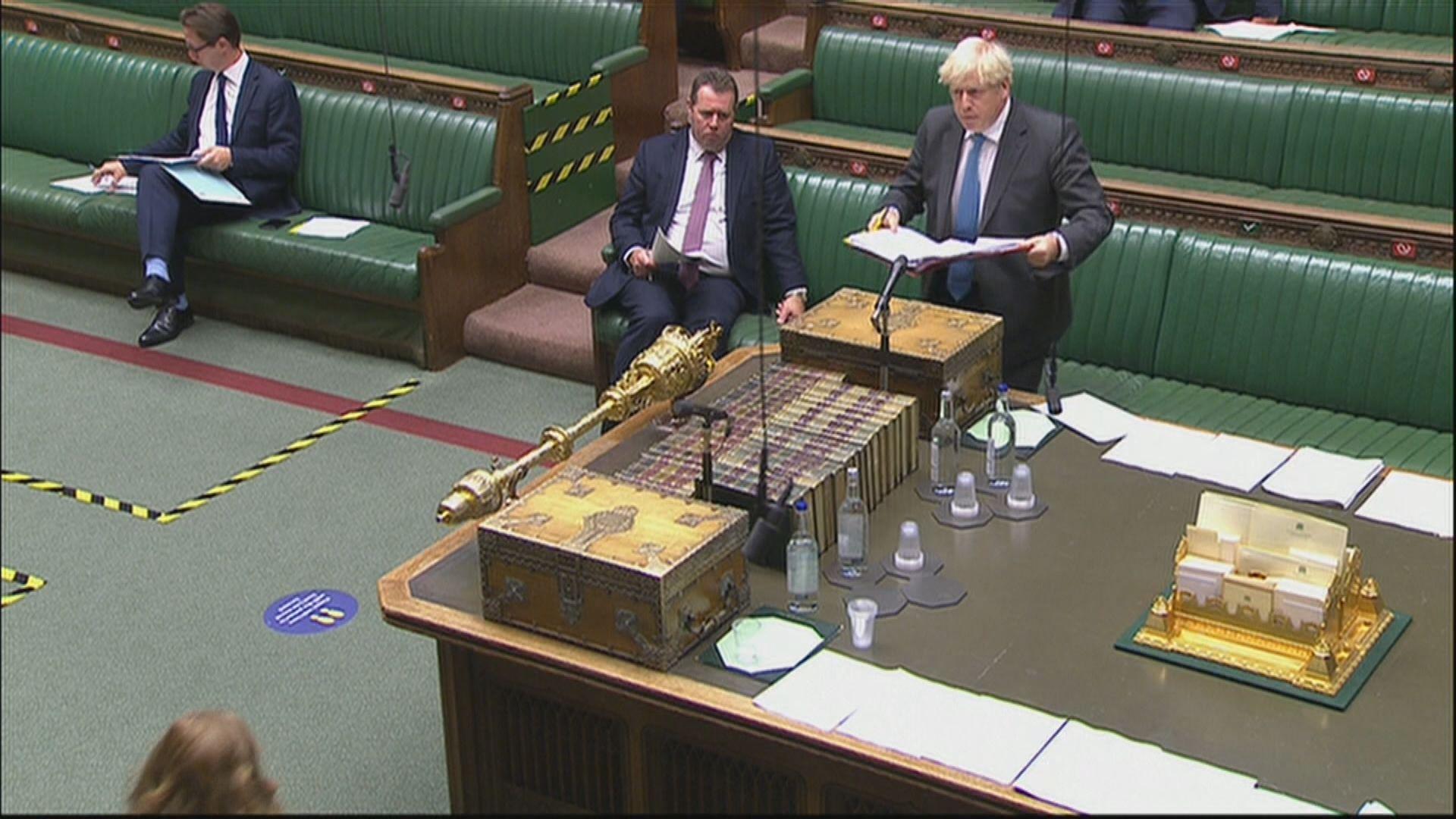 約翰遜重申《內部市場法案》能保障英國完整