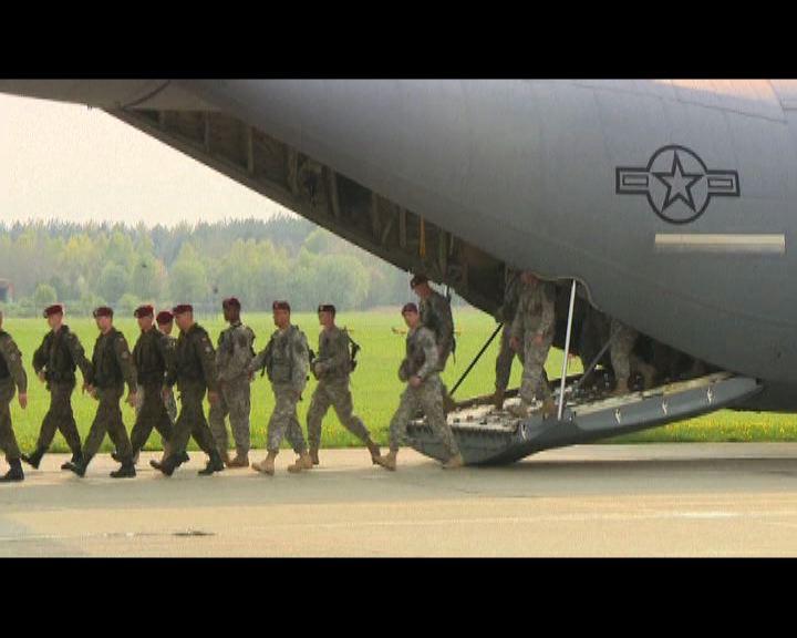 美國及北約派兵往東歐加強部署