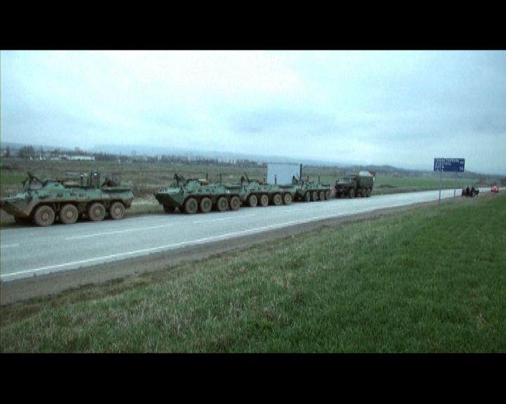 俄羅斯軍機和軍車進駐烏克蘭