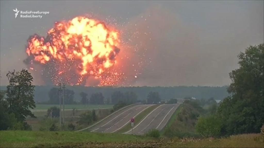 烏克蘭有軍火庫爆炸三萬人疏散