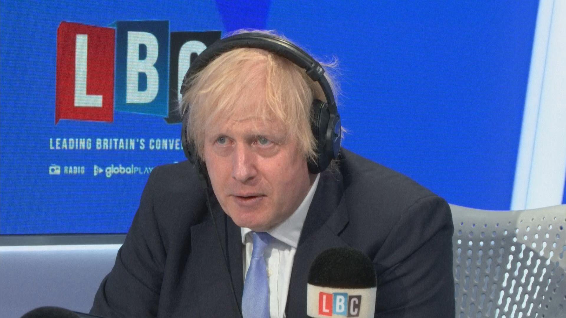 約翰遜指英國應繼續支持港人捍衛自由