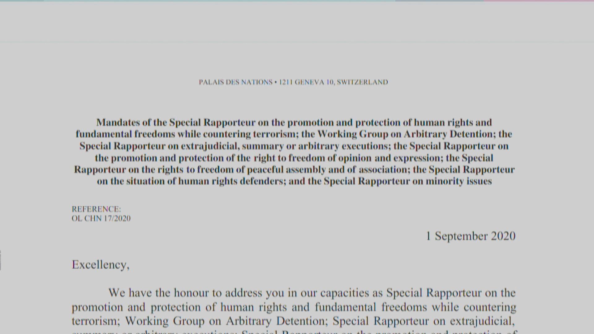 聯合國人權專家憂港區國安法侵犯部分基本權利