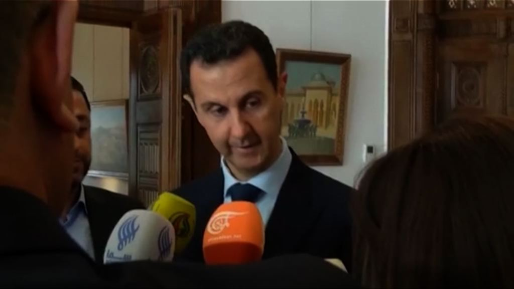 巴沙爾:空襲令敘利亞更有決心打擊恐怖主義