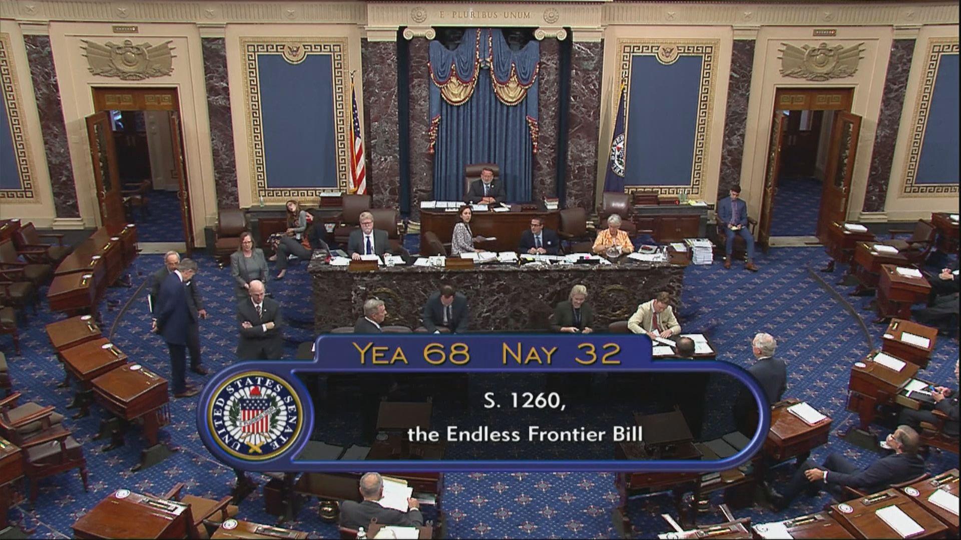 美參議院通過法案增創科能力 中方:法案渲染「中國威脅」