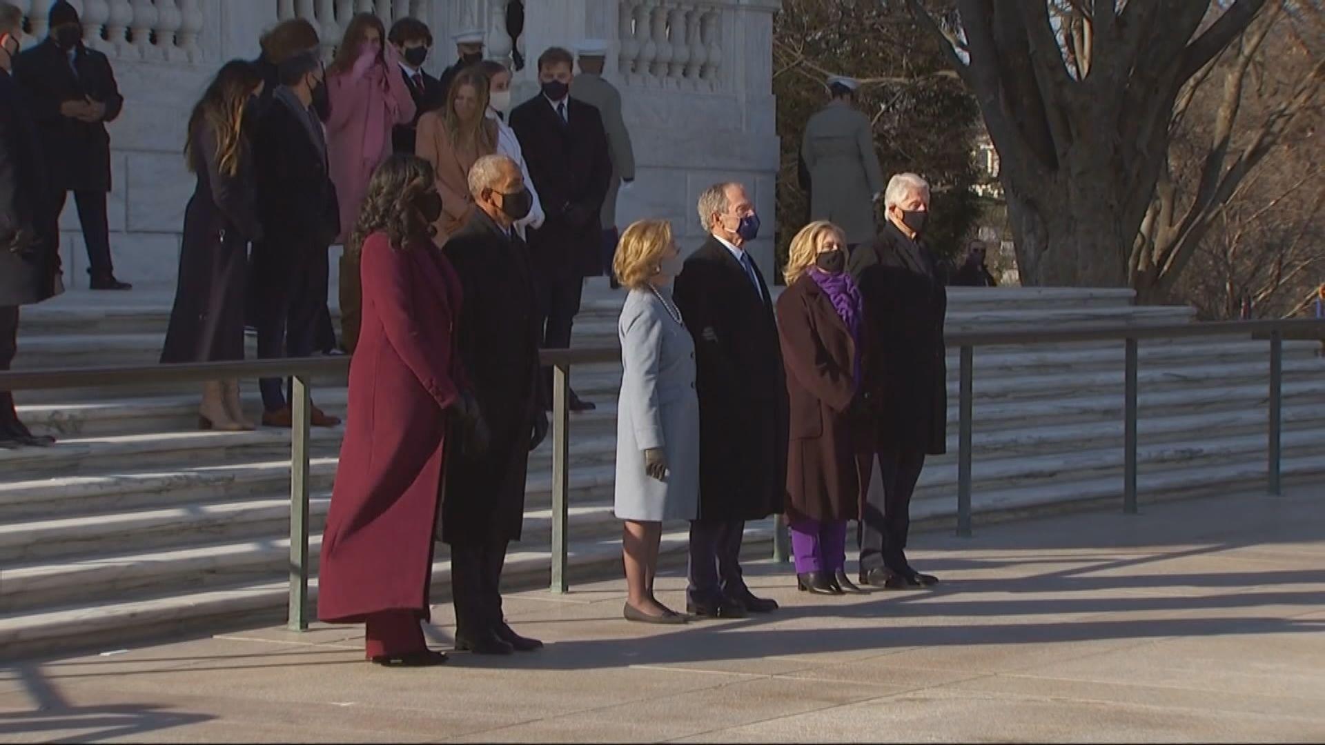 拜登與多名前總統悼念陣亡士兵