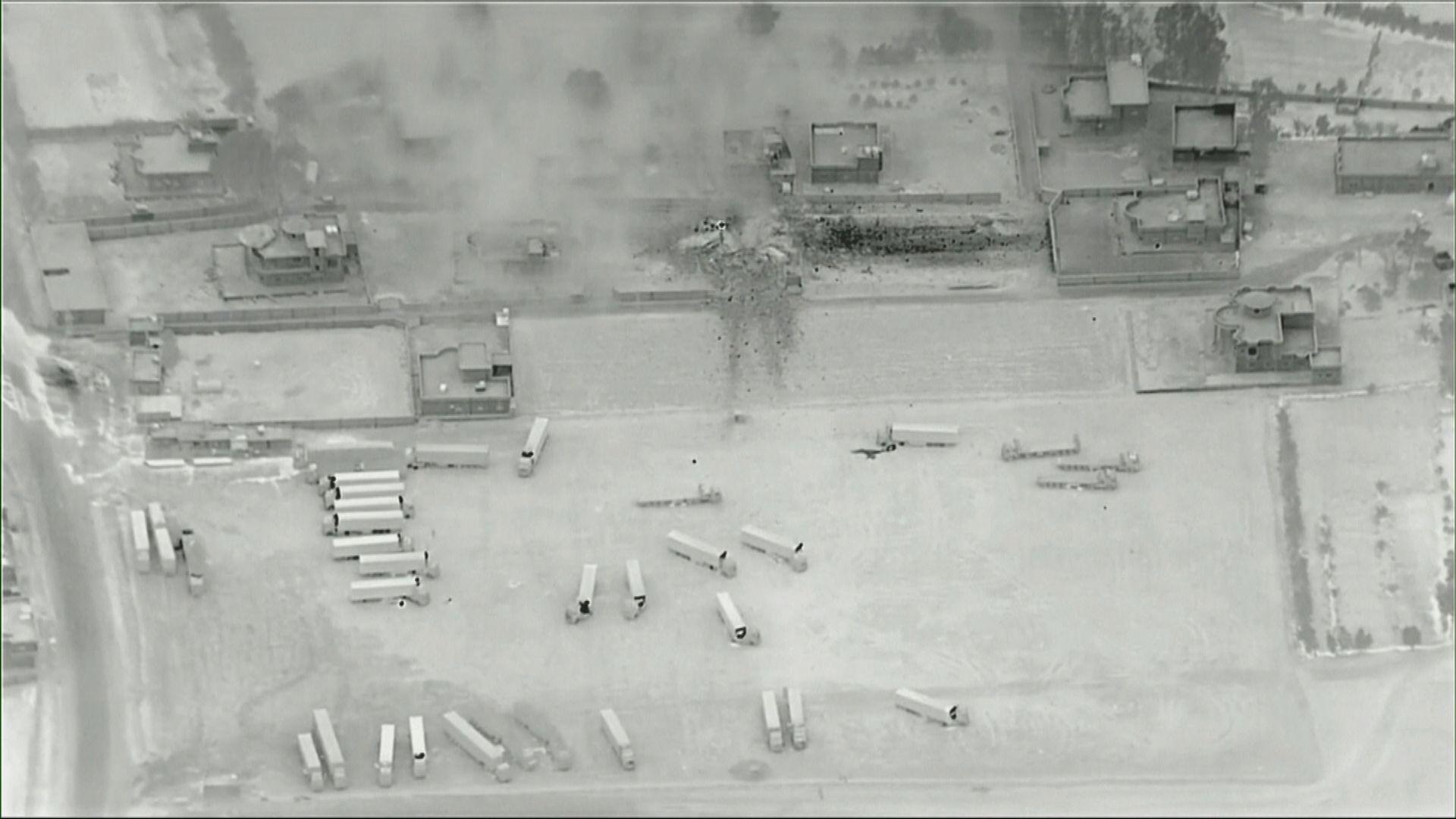 美軍空襲親伊朗民兵組織後遭火箭炮彈襲擊