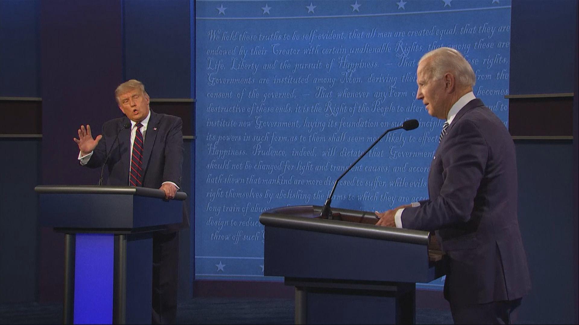【最混亂的一次?】特朗普不斷插嘴 拜登斥小丑、蠢蛋