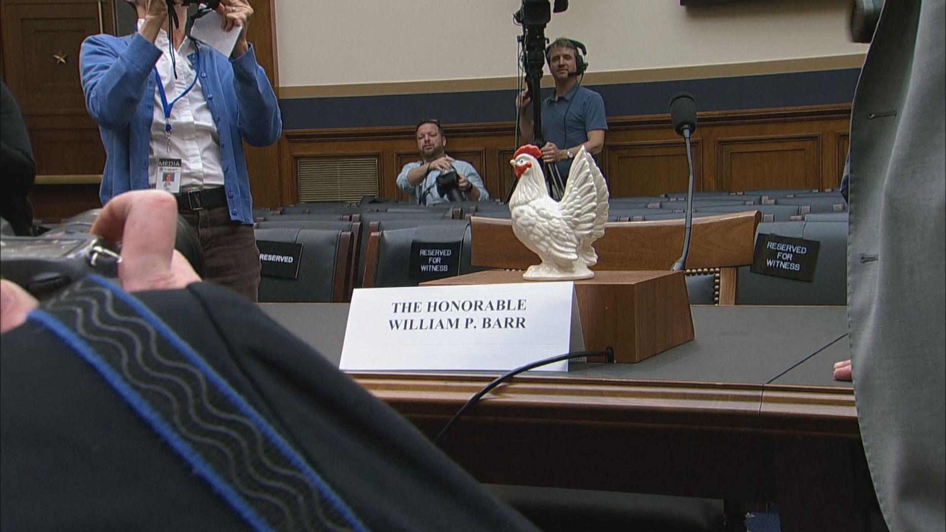 美司法部長巴爾缺席眾議院聽證會
