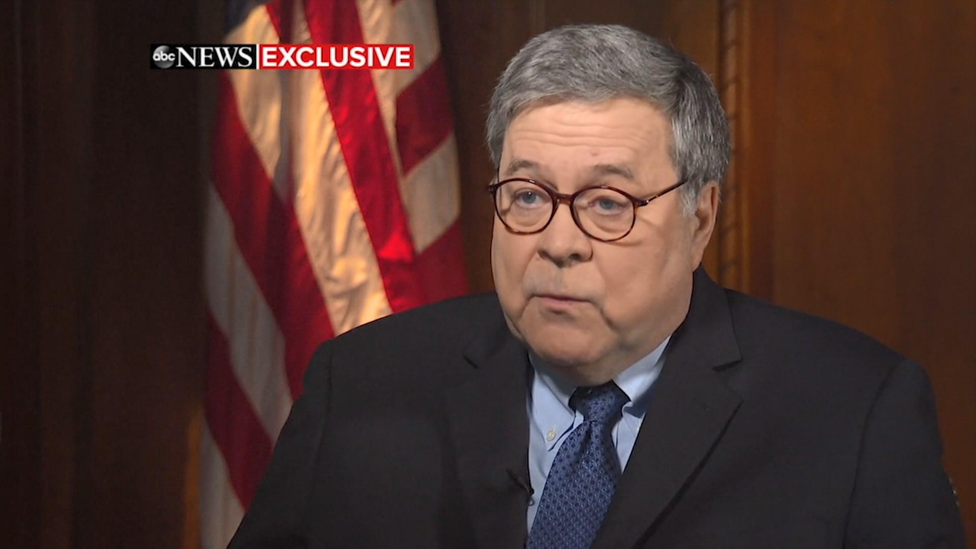 特朗普:對司法部長巴爾完全有信心