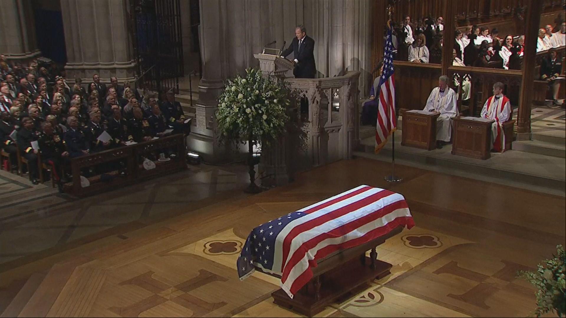 老布殊國葬儀式於華盛頓國家大教堂舉行