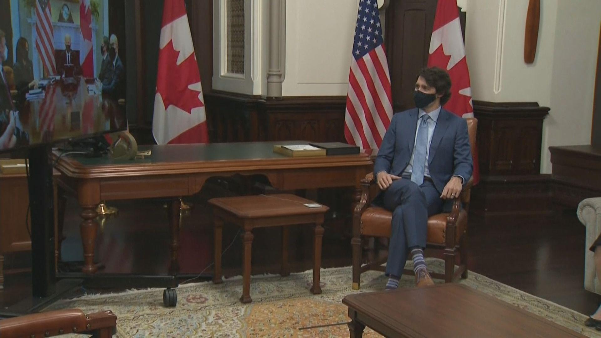 拜登聲援兩名在中國被扣押加拿大人