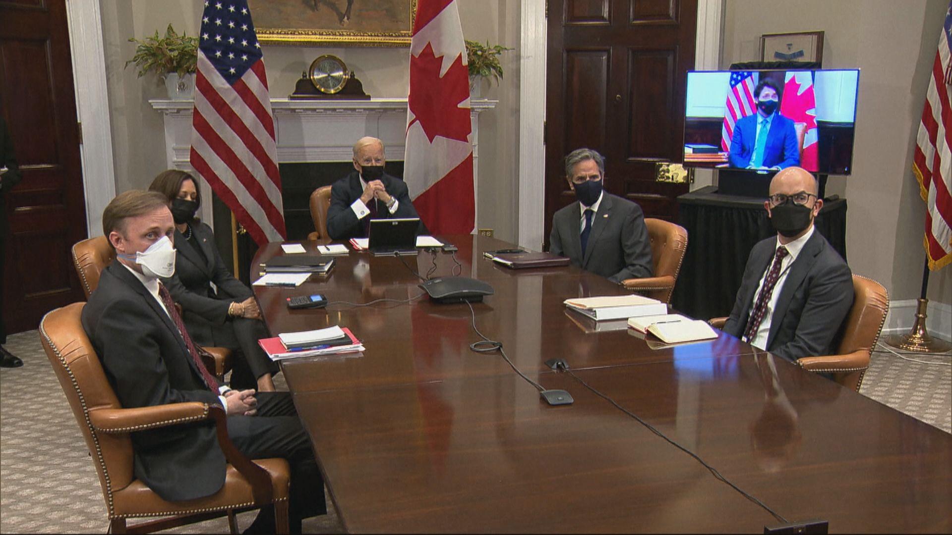 拜登聲援兩名被扣押加拿大人 外交部:中國司法主權不容干涉