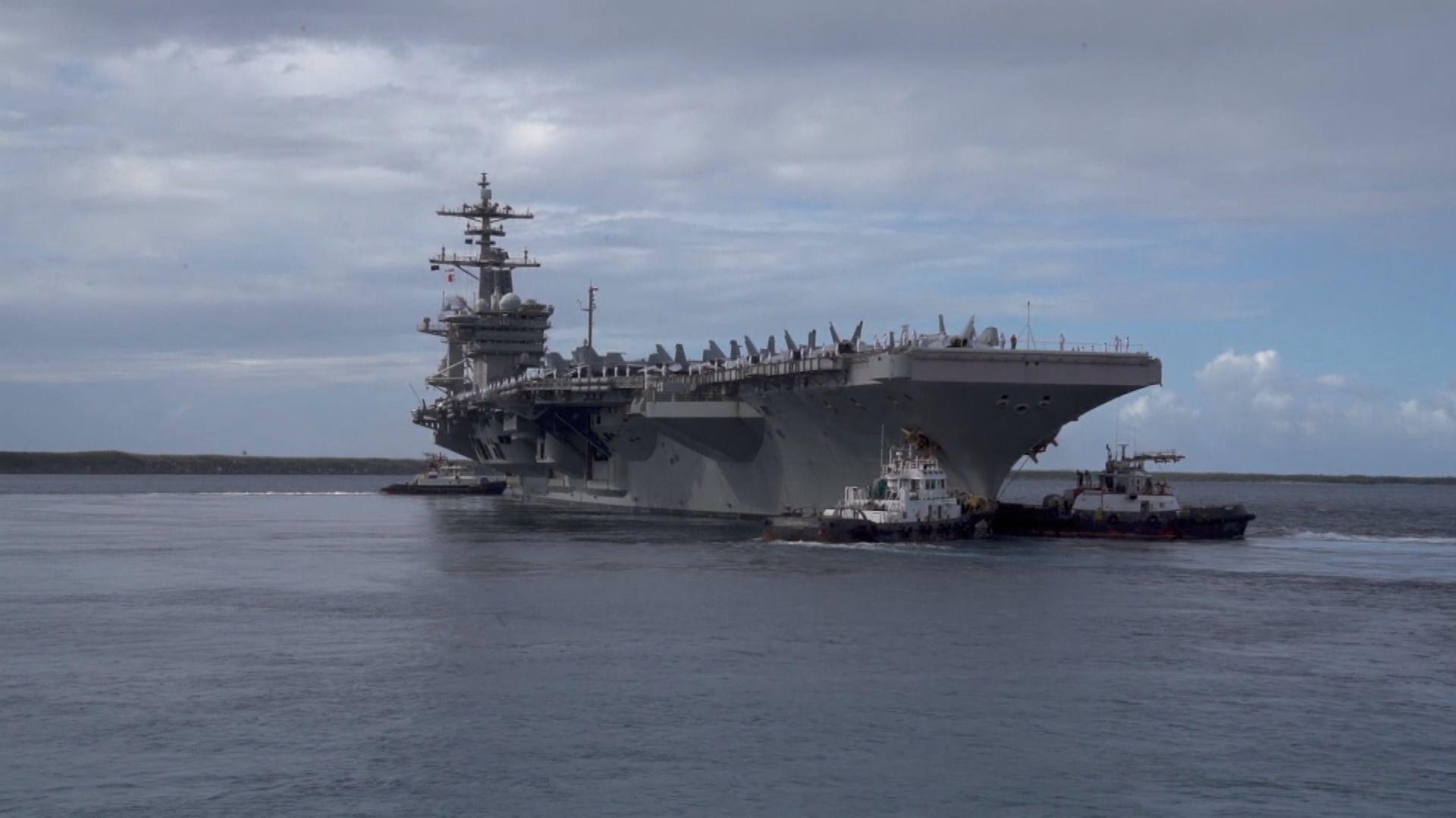 美軍公開羅斯福號南海演習片段