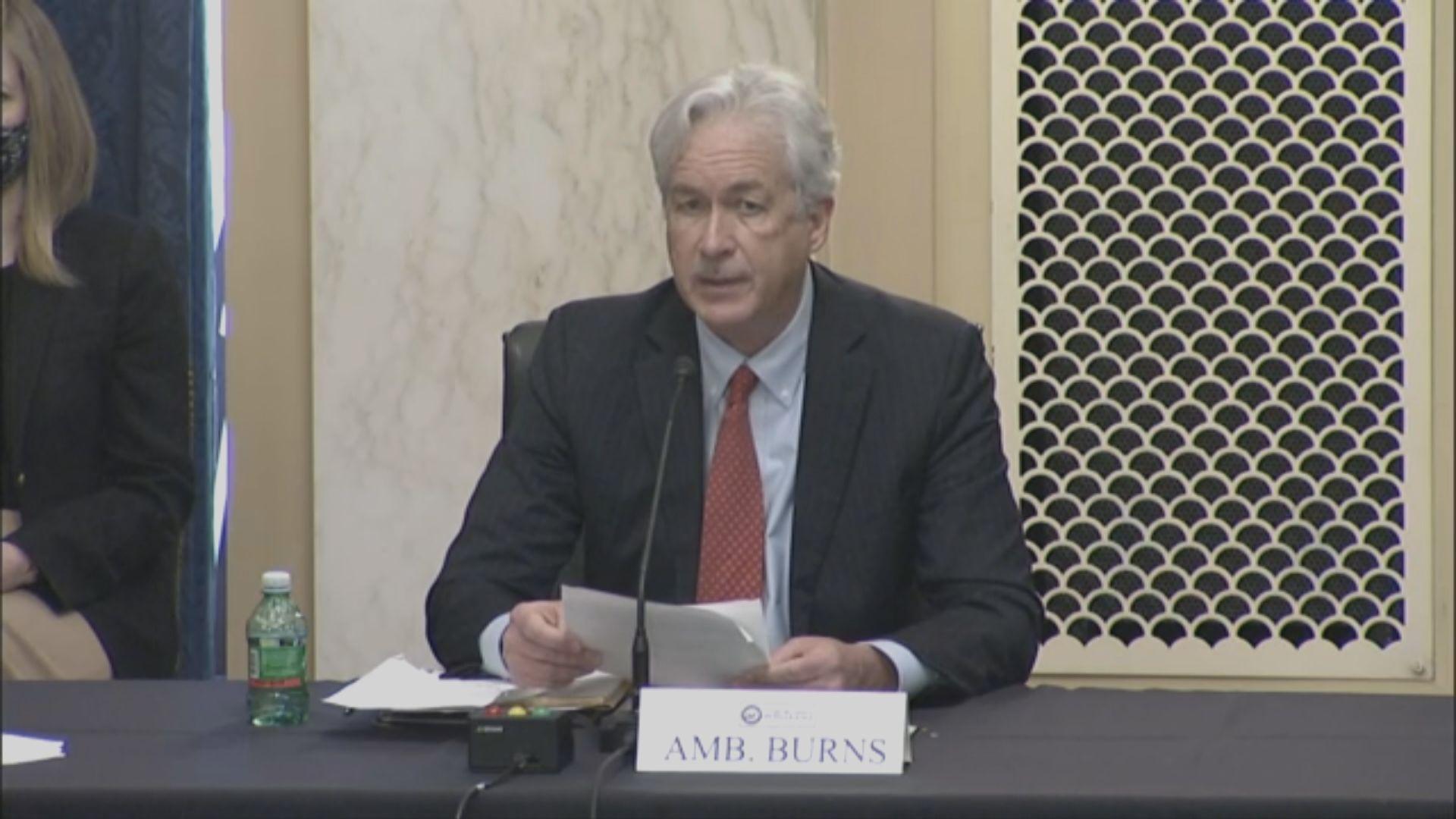 伯恩斯:美中競爭是美國國安關鍵 需為長達數十年競爭作準備