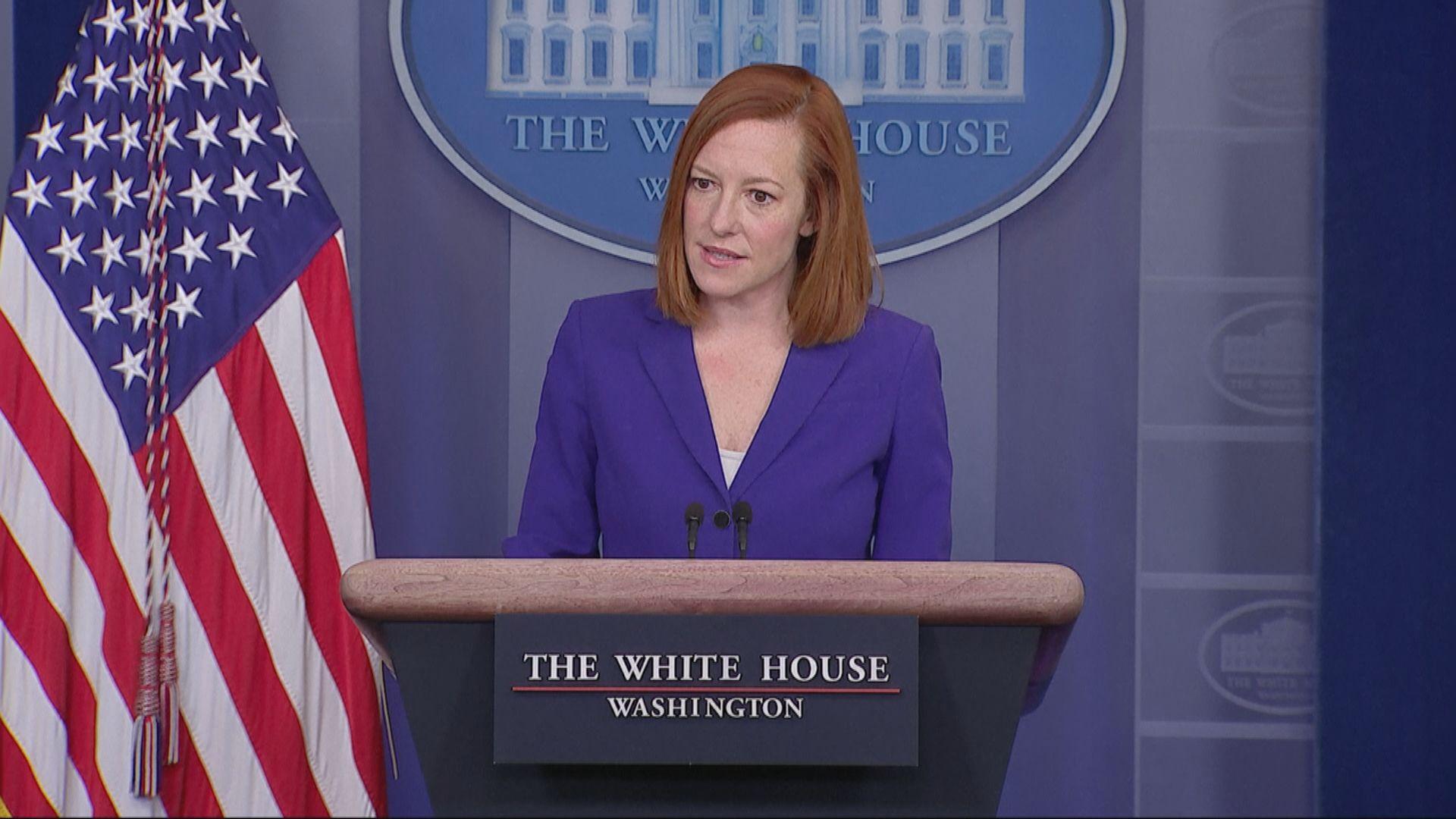 美國白宮稱對台灣立場明確不變