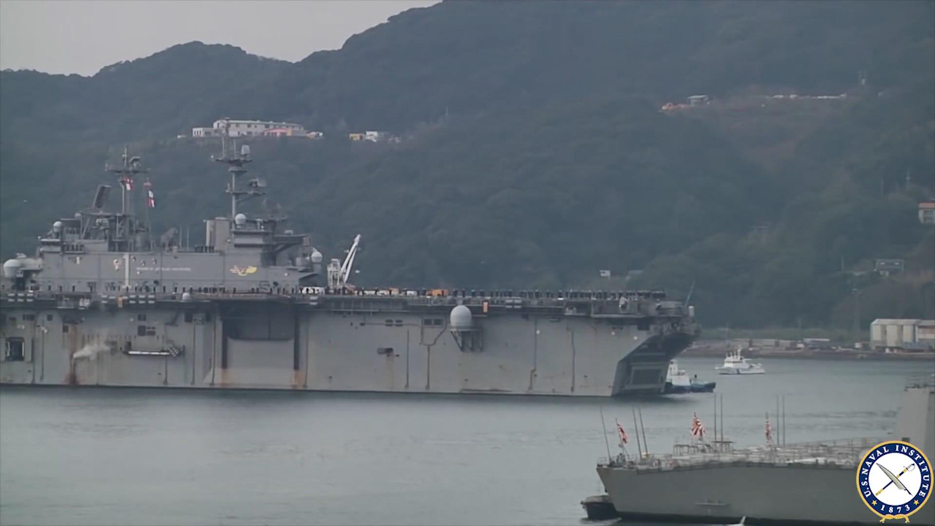 美軍首派兩棲攻擊艦到黃岩島海域作軍演