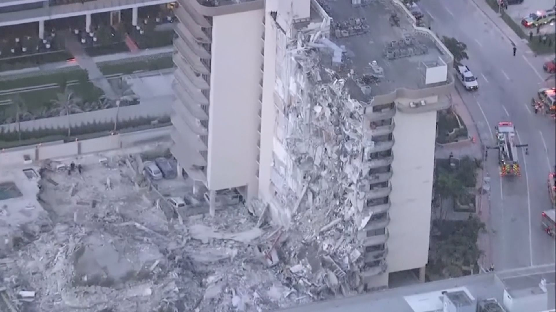 美國邁阿密住宅大樓倒塌多人死傷