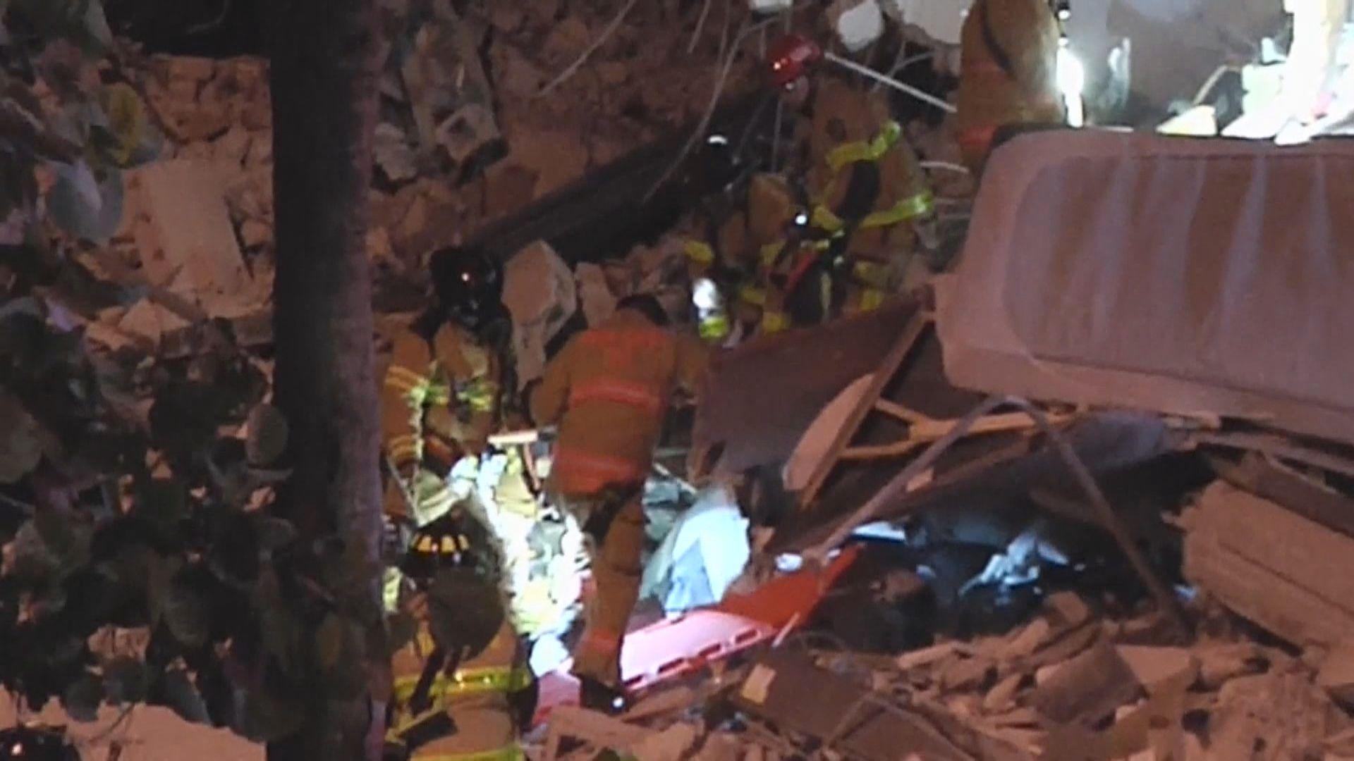 美國邁阿密住宅大樓倒塌 最少一死十傷