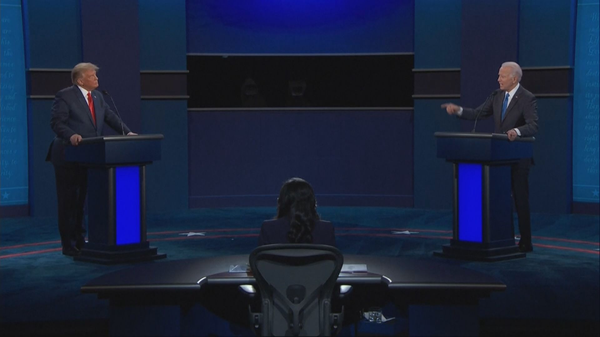 特朗普與拜登再度同台辯論
