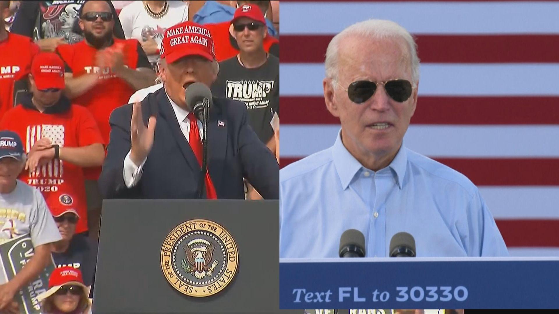 拜登和特朗普在佛羅里達州民調爭持