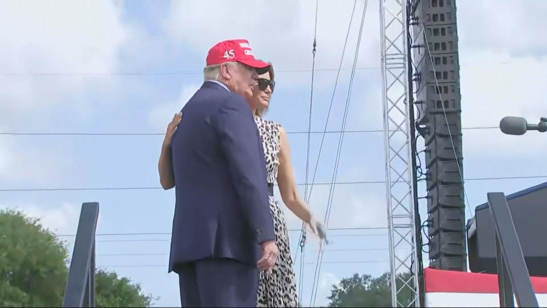 特朗普拜登先後到佛羅里達州拉票