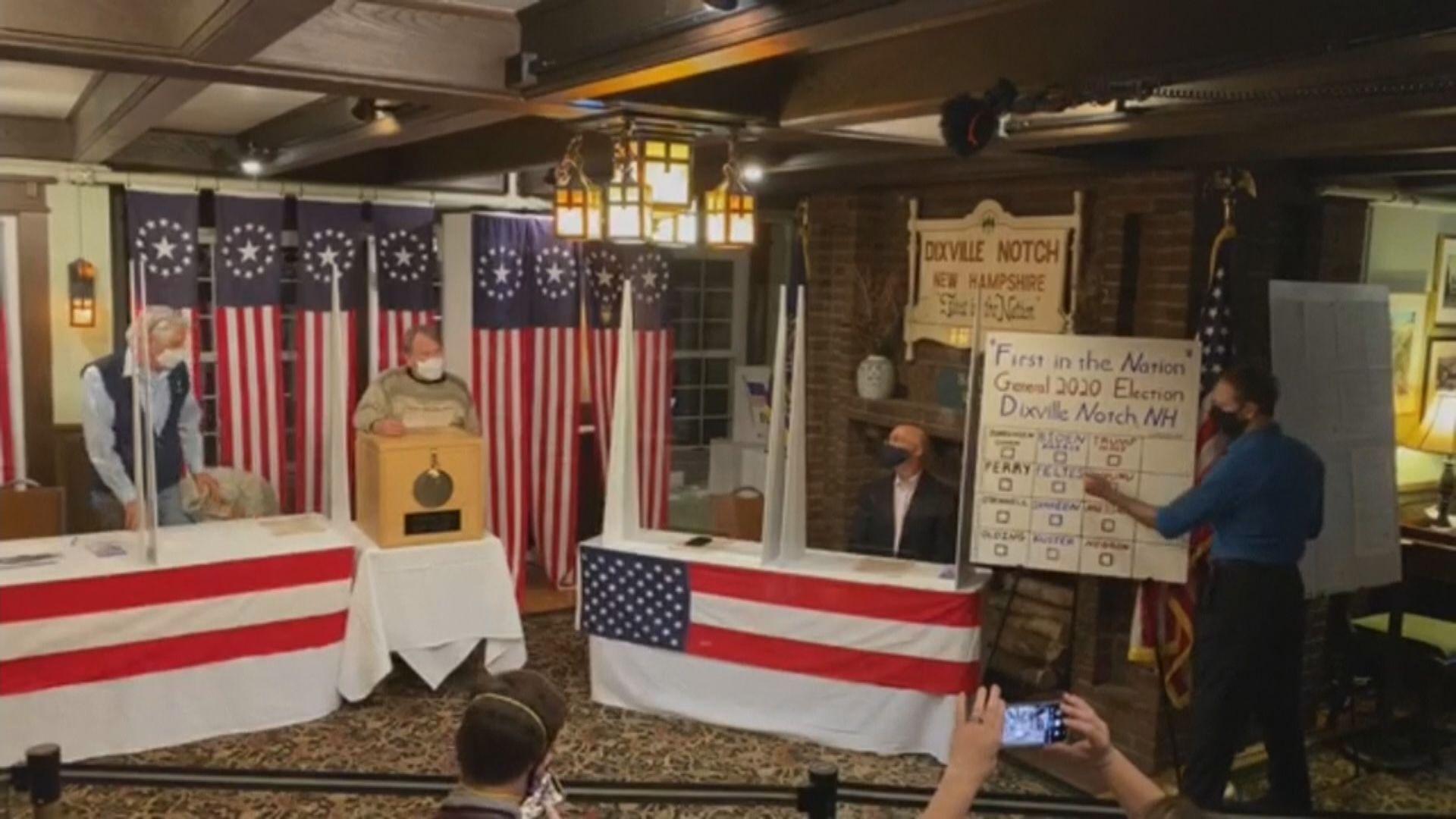 美國總統選舉開始投票 特朗普拜登在兩小鎮互有勝負
