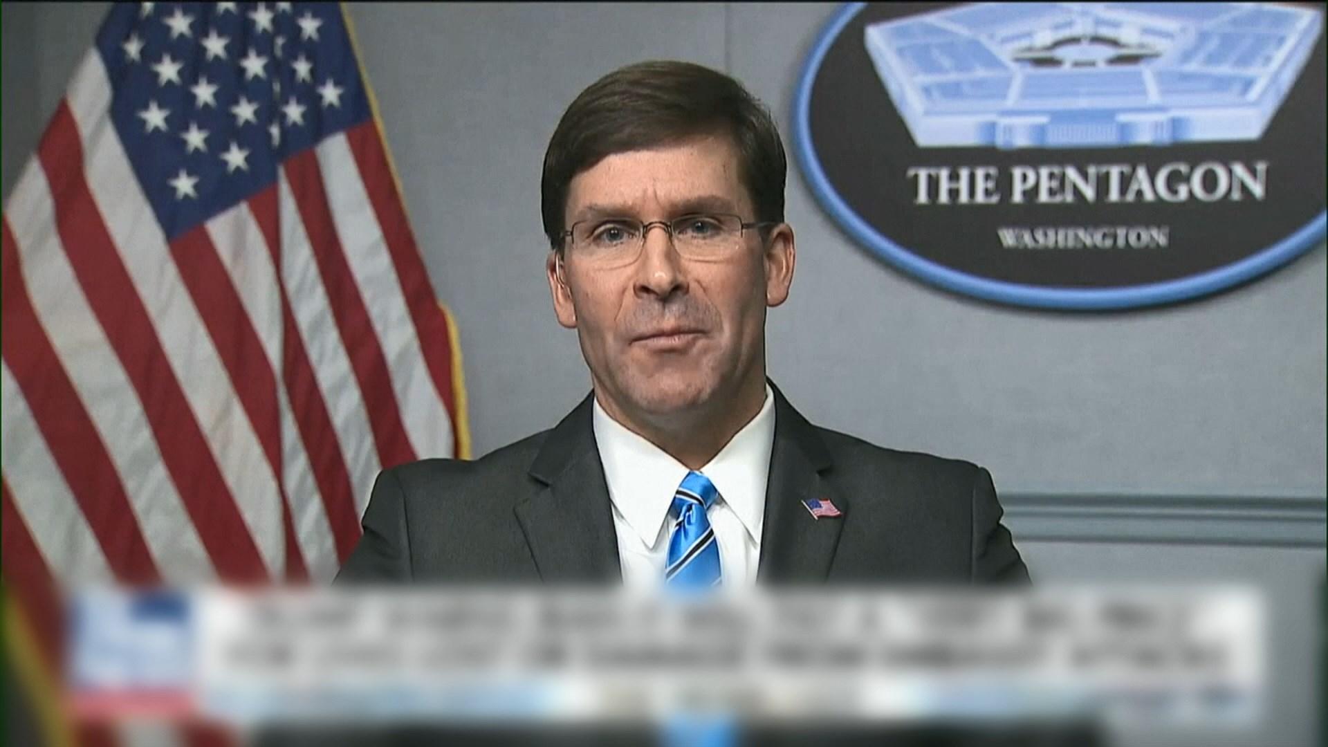埃斯帕:不排除對伊朗先發制人