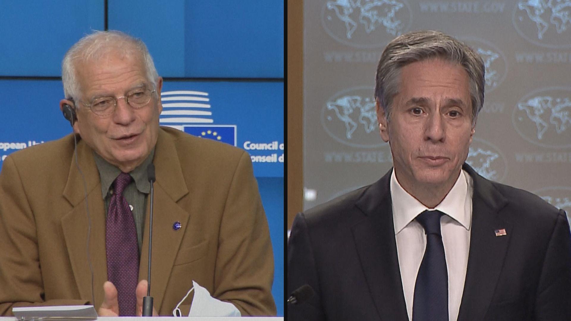 美國務卿與歐盟代表通話同意在中國問題上合作