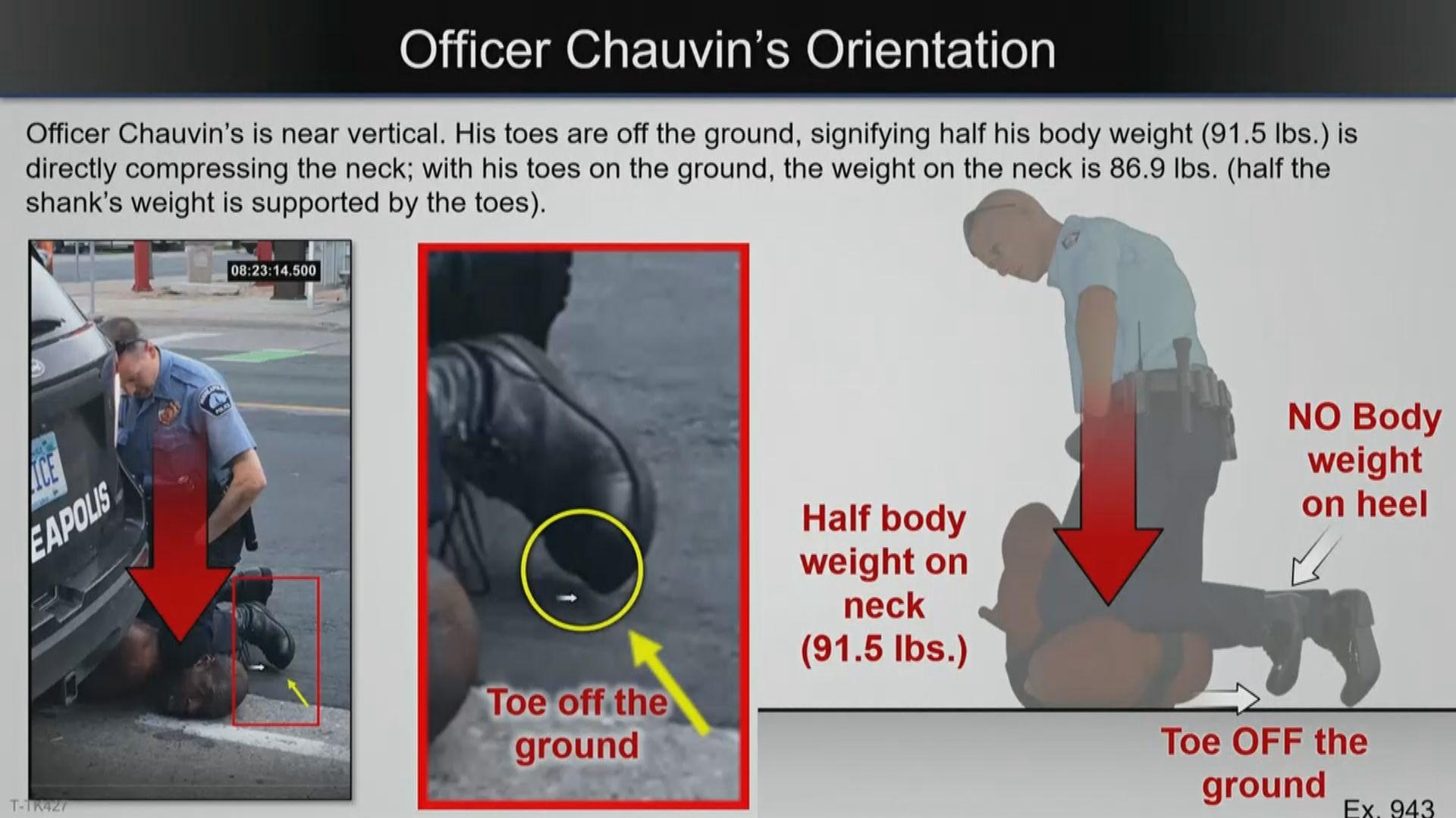 專家證人認為被跪頸致死黑人是缺氧致死 非受藥物影響