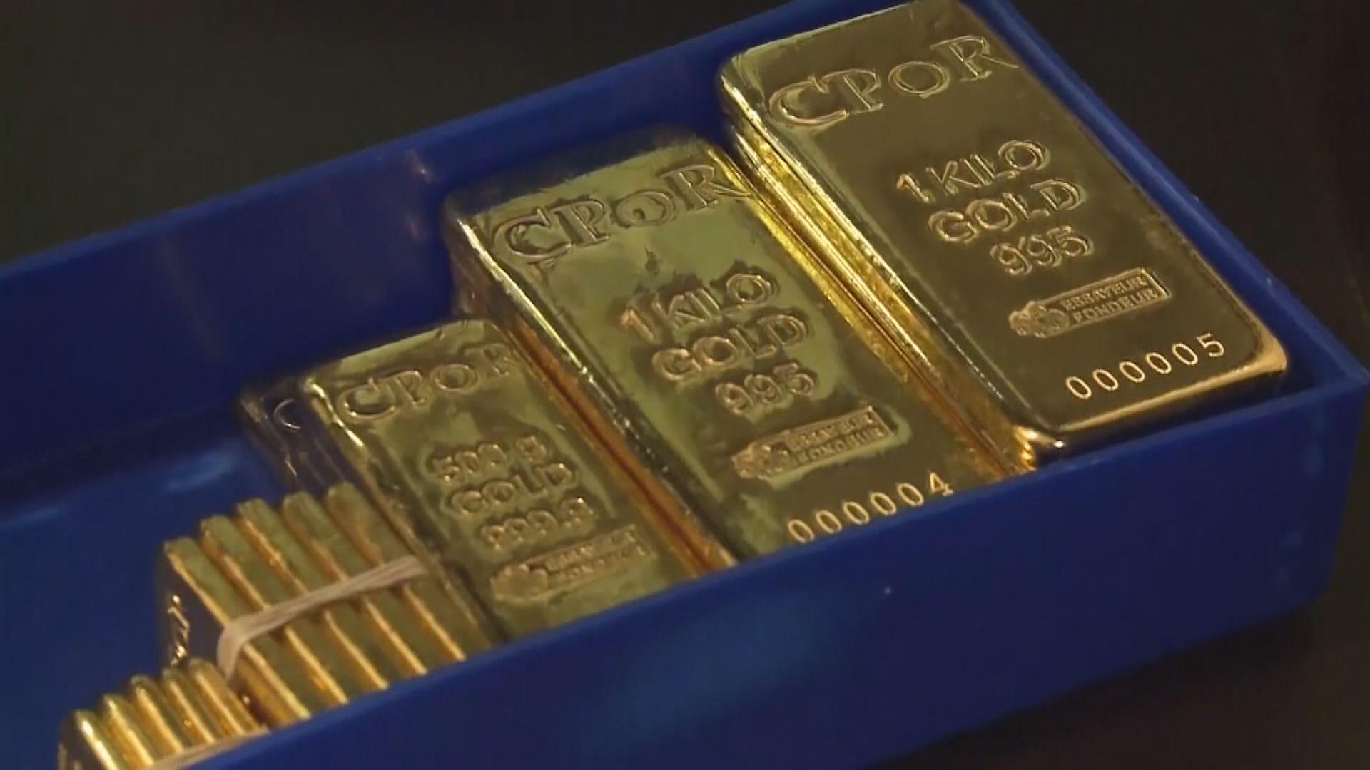 美元回落 現貨金創兩周最大單日升幅