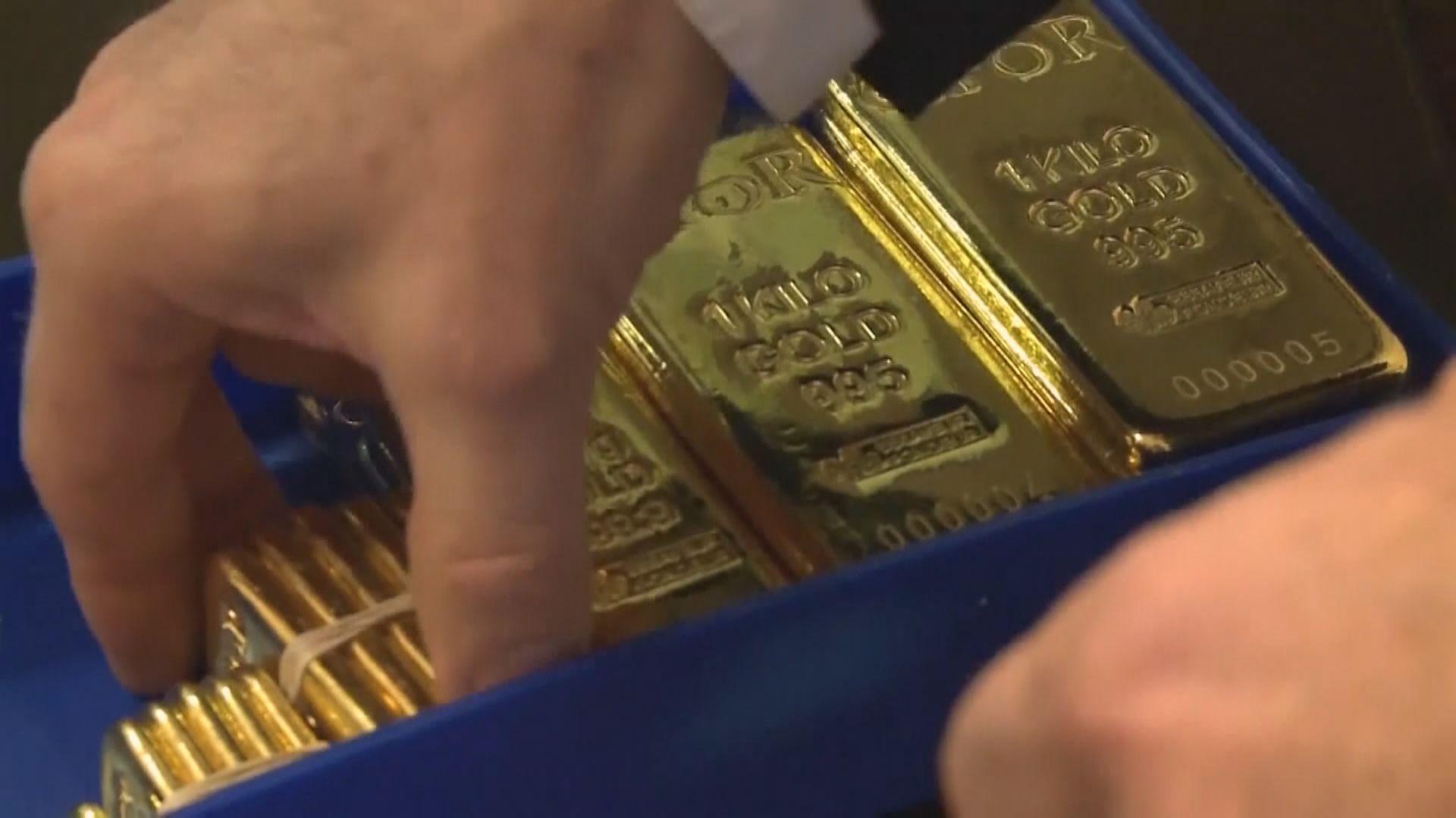 金價上升 因預期聯儲局暫停加息
