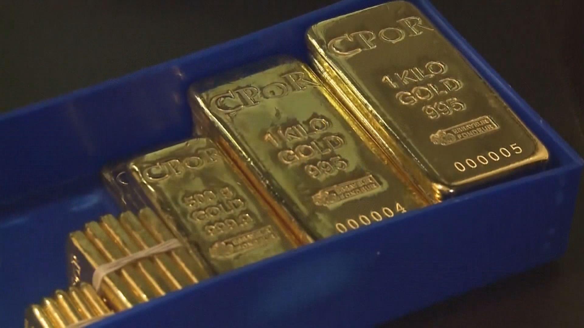 國際金價本周升逾3%