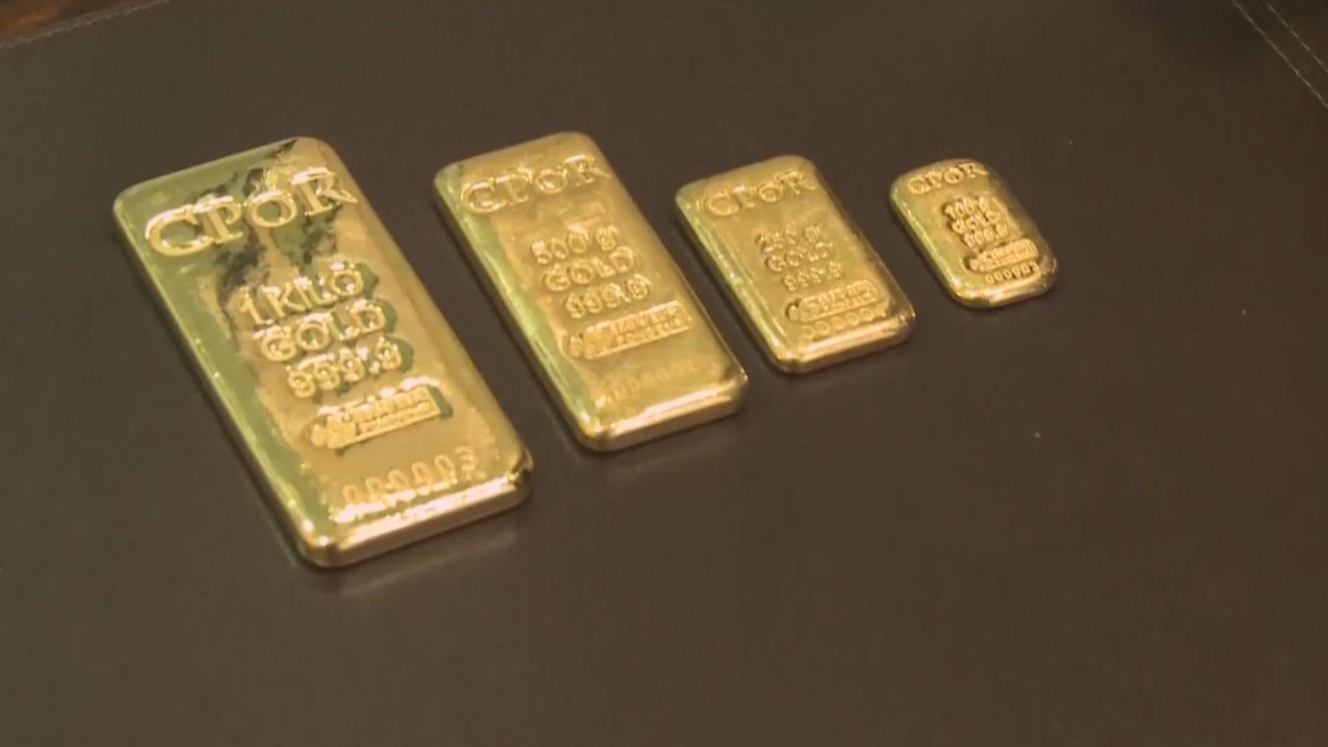金價從逾三周高位回落 因美元及美股升