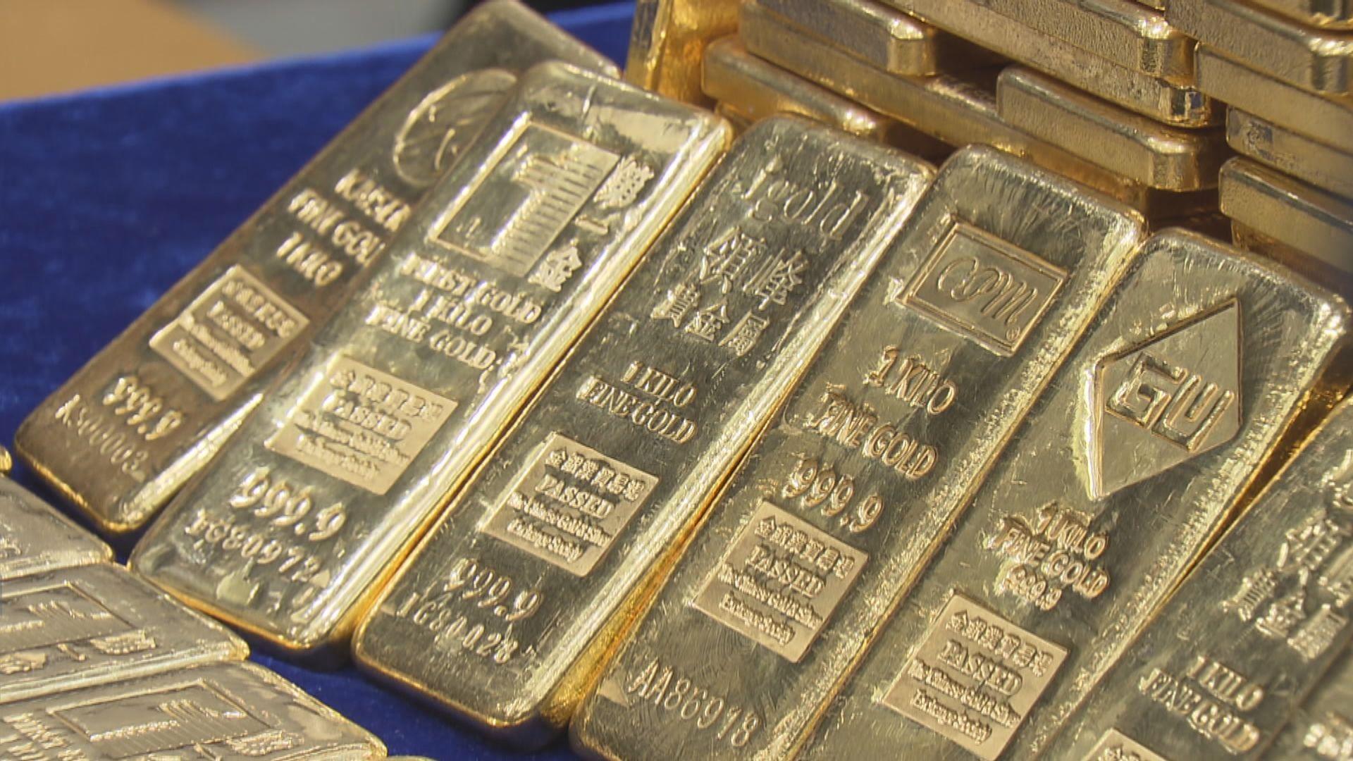 國際金價微升 現貨金觸及一星期高