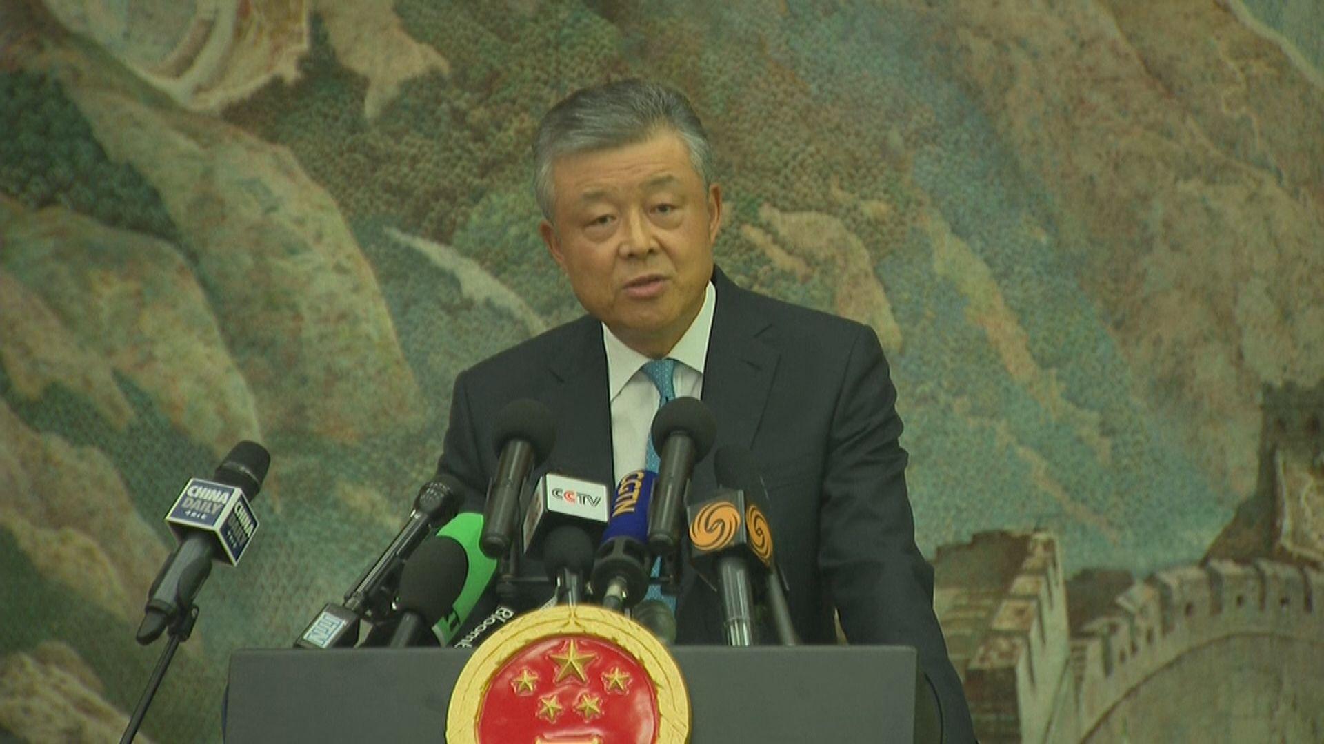 劉曉明警告中央不會坐視港局勢失控