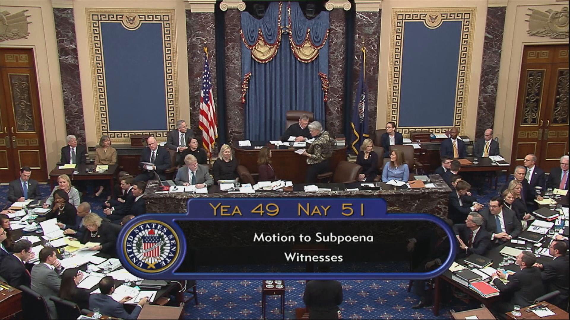 參議院下周三將就彈劾控罪作表決