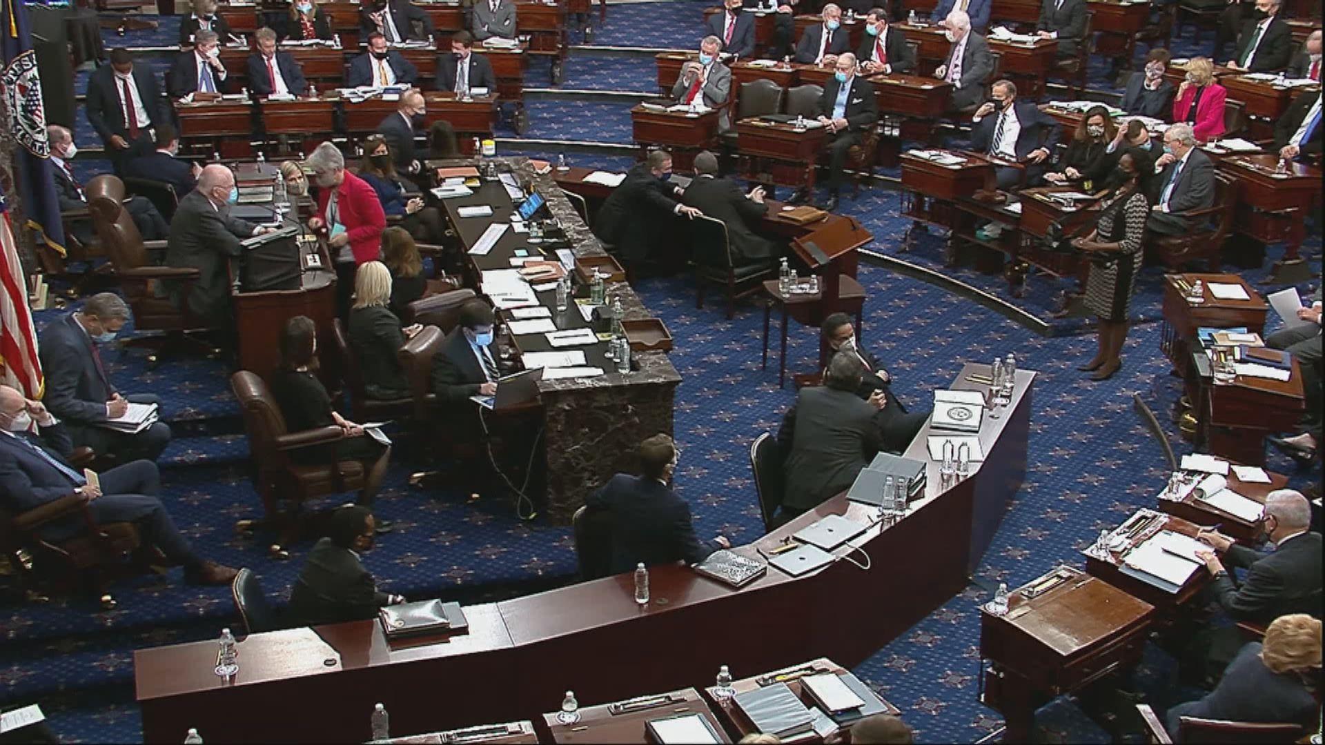 美參議院通過特朗普彈劾聆訊合憲