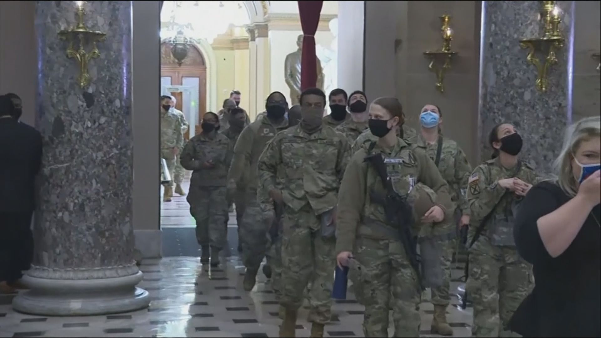 美國12名國民警衛軍遭移離總統就職禮崗位