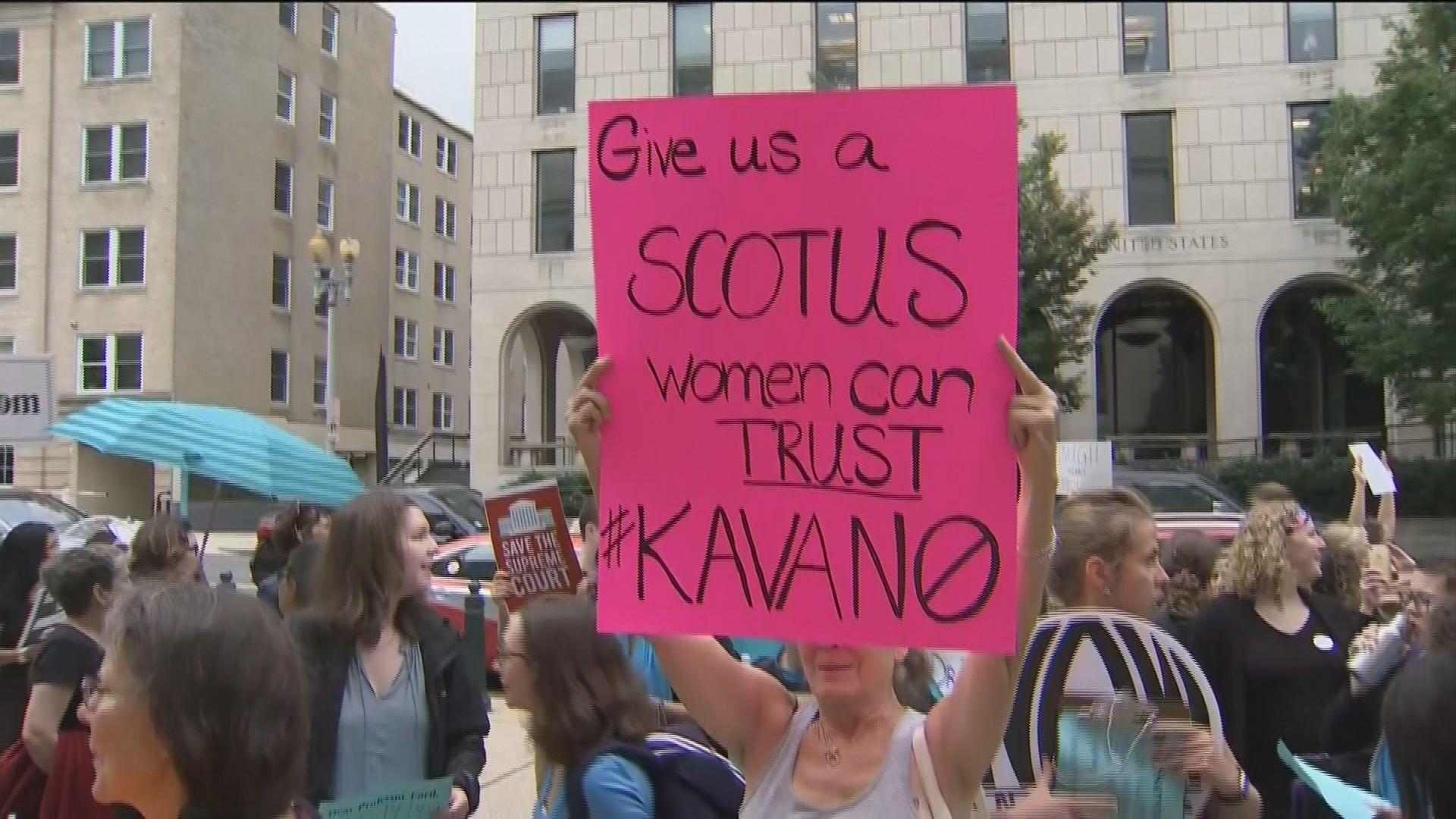 示威者要求撤銷卡瓦諾提名