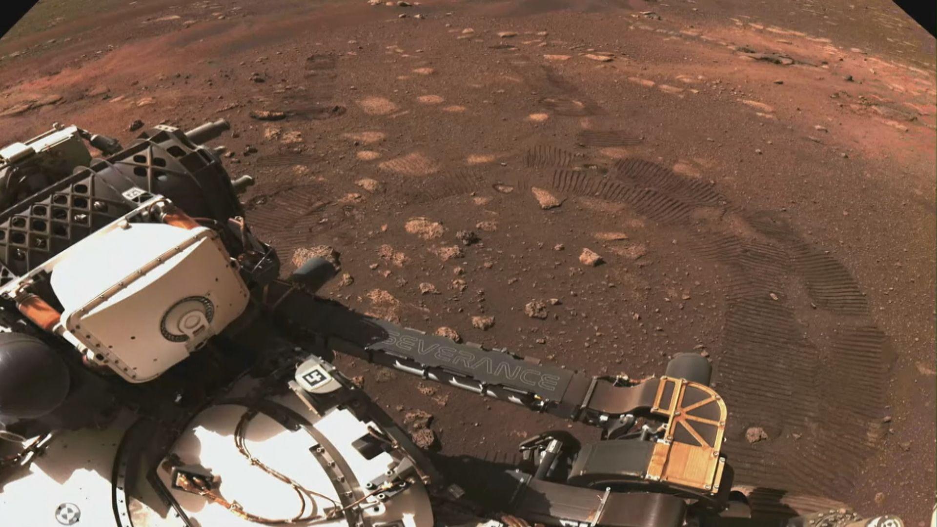 毅力號首度在火星行駛6.5米
