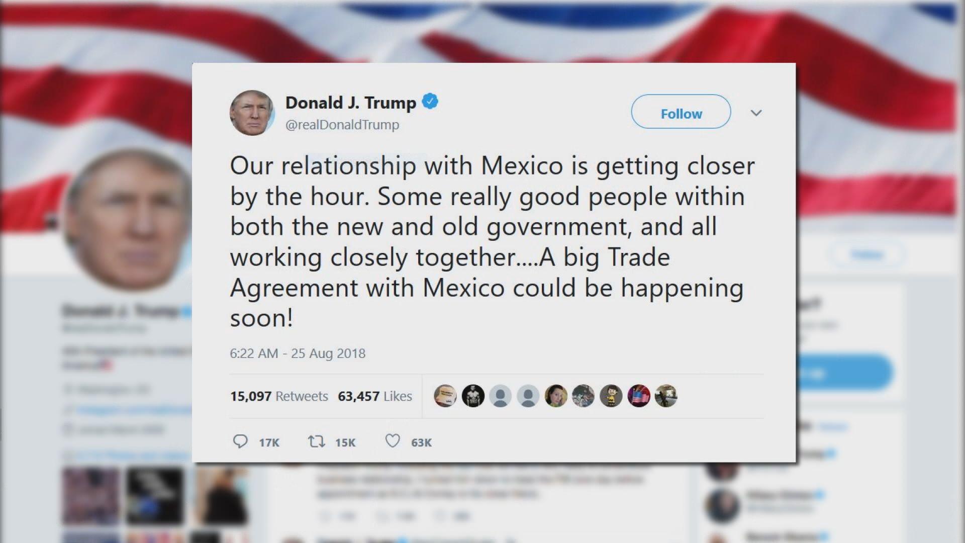 美國墨西哥貿易談判料最快八月結束