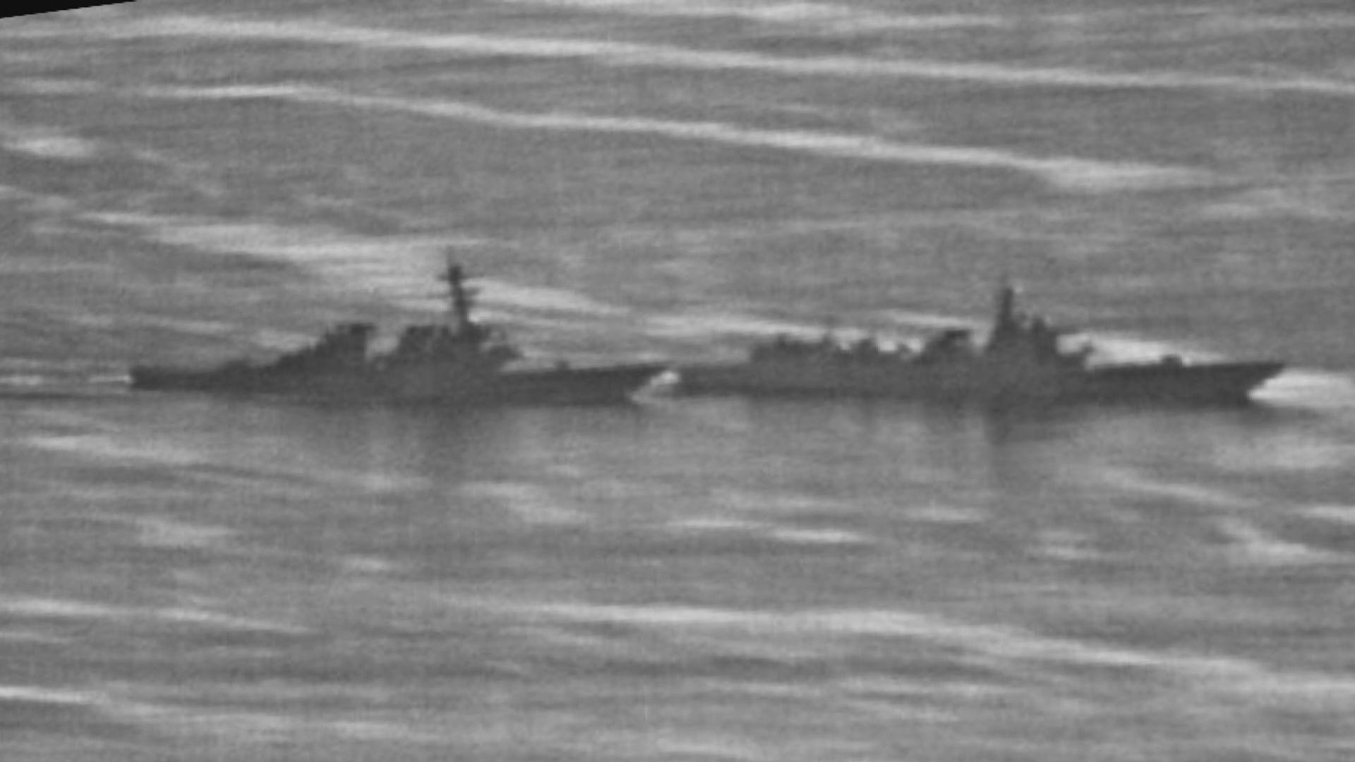 中美軍艦南海相遇照片曝光