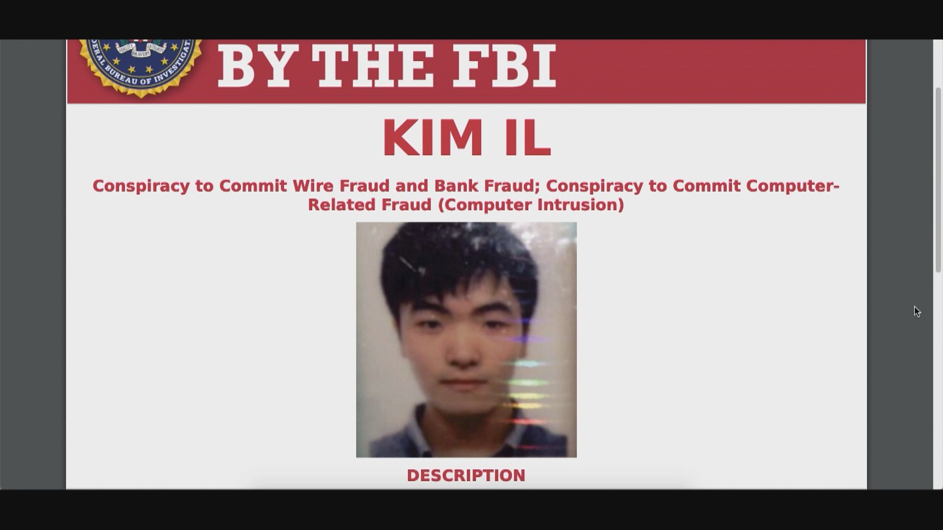 美起訴三北韓黑客涉圖盜取逾13億美元款項