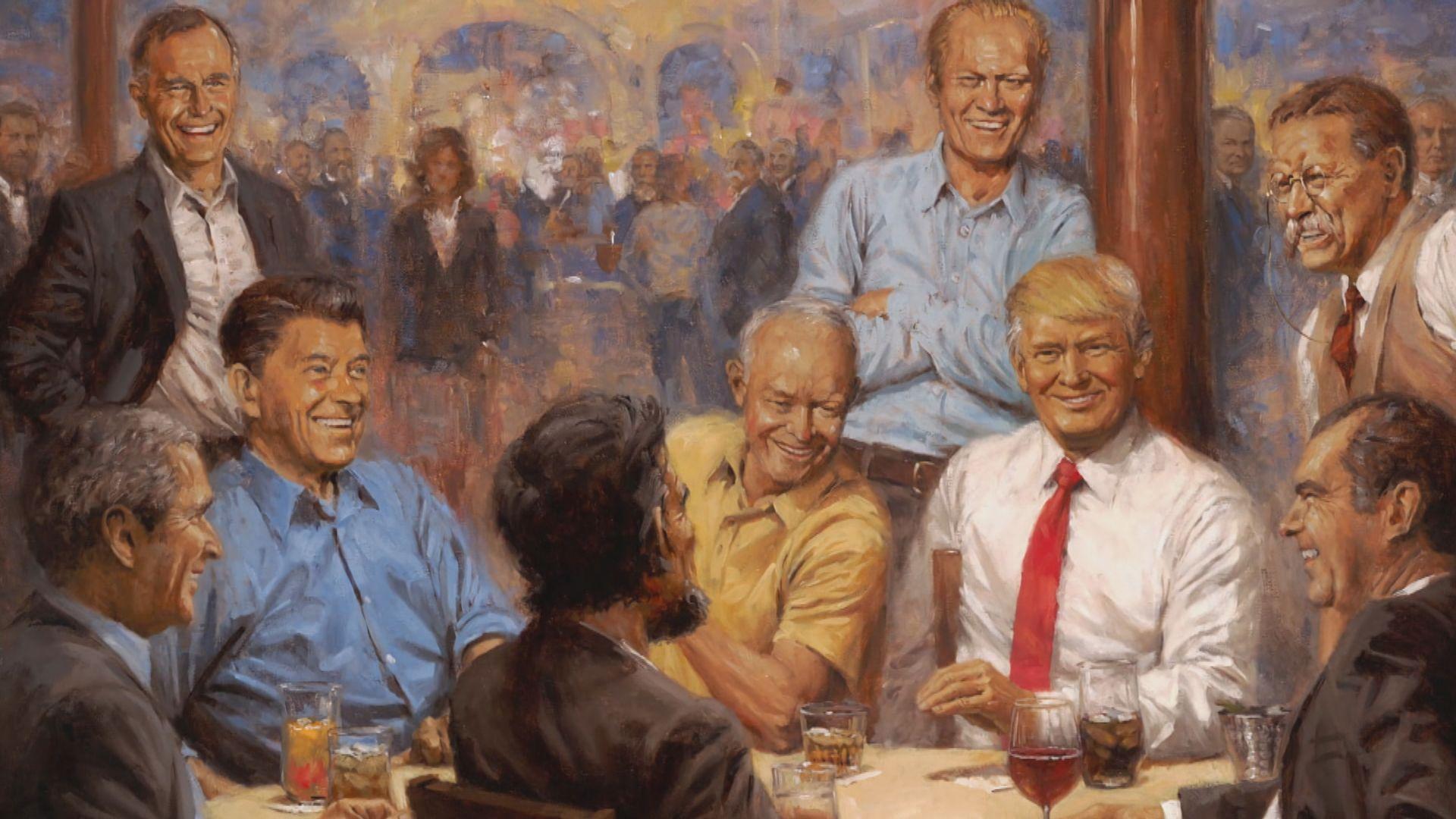 白宮以共和黨總統為題畫作惹劣評